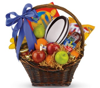 Gift baskets gourmet hampers delivered by local florist petals footy fever negle Gallery