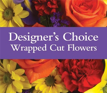 Designer's Choice Wrapped Cut Flowers for flower delivery New Zealand wide