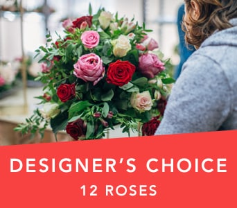 Designer's Choice Dozen Roses in Terrey Hills, Sydney , Hills The Flower Market