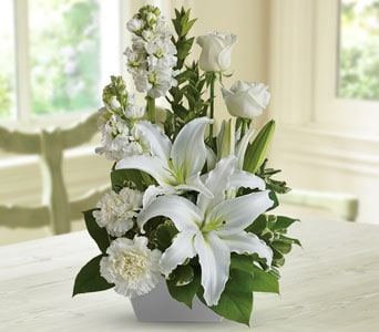 White Simplicity in Geraldine , The Flower Gallery