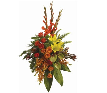Tropical Tribute in Springwood, Blue Mountains , Mountain Mist Florist