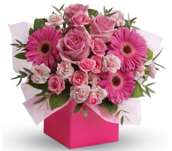 Think Pink for flower delivery new zealand wide