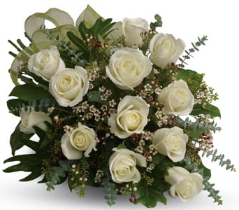 Dreamy White Dozen for flower delivery New Zealand wide