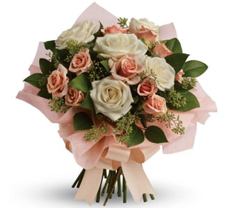 Just Peachy in rockhampton , petals florist network