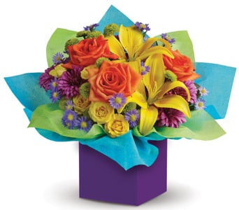 Rainbow Surprise for flower delivery australia wide