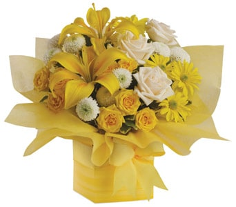Sweet Sunshine in toorak , petals florist network
