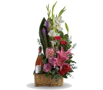 Blushing Celebration in Orange , Jenisa Florist & Gifts