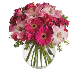 Pink Me Up in Seymour , Petals Network Member River Gum Florist
