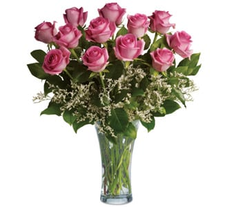 Perfect Pink Dozen for flower delivery united kingdom wide