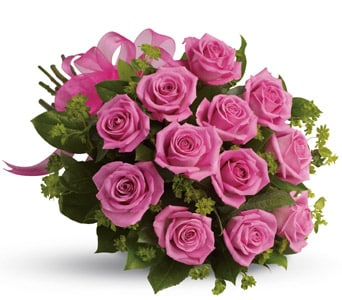 Blushing Dozen for flower delivery united kingdom wide
