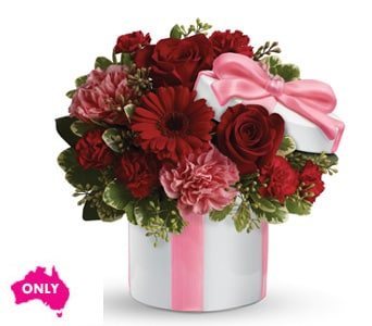 Hats Off to Red in Winston Hills , Colour On Stem Florist
