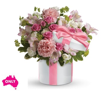 Hats Off to Pink in elizabeth grove , petals florist network