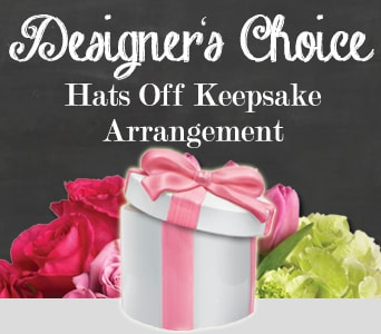 Designer's Choice Hats Off Keepsake Arrangement for flower delivery australia wide