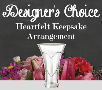Designer's Choice Heartfelt Keepsake Arrangement for flower delivery australia wide