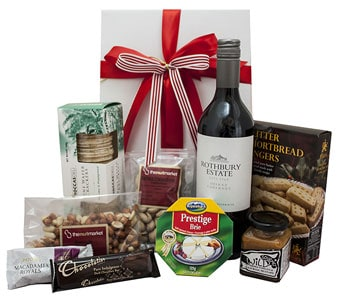 Nibbles and Red Wine Hamper in Grumleys NSW, Grumleys Gifts