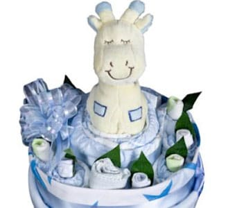 Baby Boy Nappy Cake - fast gift delivery australia wide