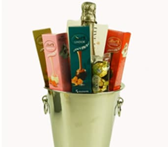 Sparkling Wine, Ice Bucket & Chocolates - fast gift delivery australia wide