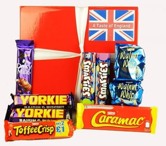 English Chocolate Basket - fast gift delivery australia wide