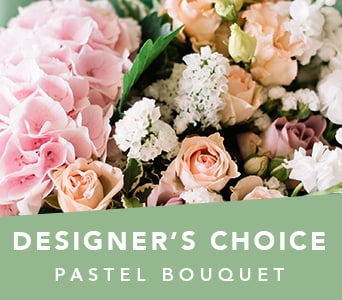 Designer's Choice Pastel Bouquet for flower delivery new zealand wide