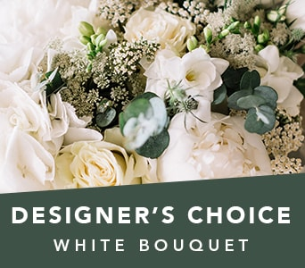 Designer's Choice White Bouquet in Nowra , Hyams Nowra Florist
