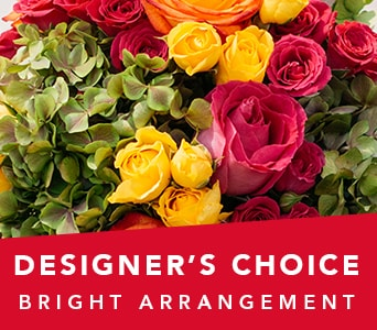 Designer's Choice Bright Arrangement for flower delivery new zealand wide