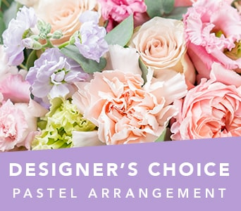 Designer's Choice Pastel Arrangement in Orange , Jenisa Florist & Gifts