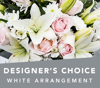 Designer�s Choice White Arrangement in grovedale , petals florist network