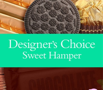 Designer�s Choice Sweet Hamper in elizabeth grove , petals florist network