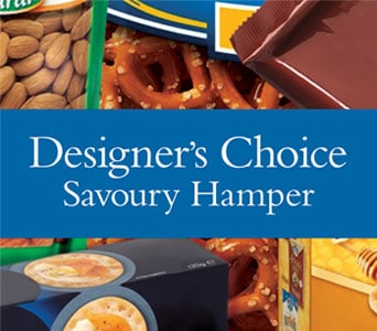 Designer�s Choice Savoury Hamper for flower delivery new zealand wide