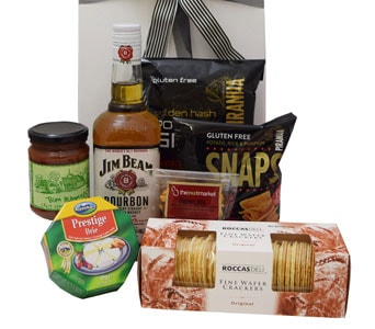 Jim Beam and Snacks - fast gift delivery australia wide