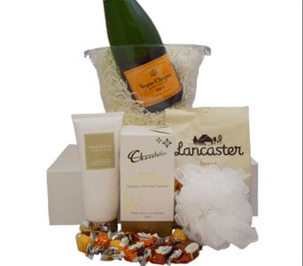 Deluxe Veuve Pamper Hamper in Grumleys NSW, Grumleys Gifts