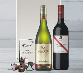 Red and White Wine Lovers Gift Set - fast gift delivery australia wide