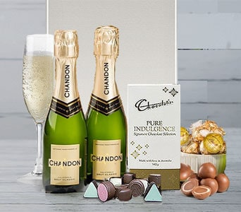 Champagne and Chocolates for two - fast gift delivery australia wide