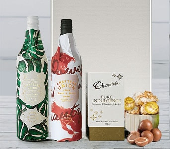 Double Trouble Wine Gift Hamper - fast gift delivery australia wide
