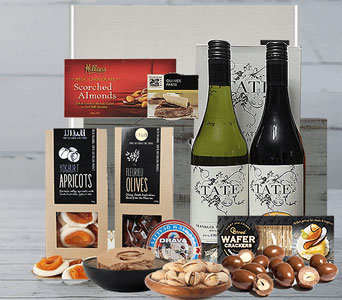 Red & White Wine Gourmet Mix - fast gift delivery Australia wide