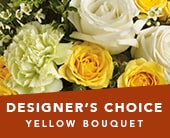 Designer�s Choice Yellow Bouquet in melbourne , her majestys florist
