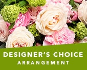 Designer's Choice Arrangement in orange , jenisa florist & gifts
