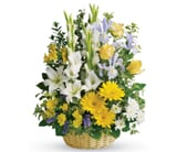 Basket of Memories in bright , bright florist