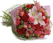 From the Heart in corrimal , pink domino florist