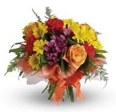 Precious Moments in orange , pick me flowers and gifts