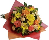 Playful Posies in orange , pick me flowers and gifts