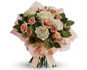 Just Peachy in corrimal , pink domino florist