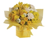 Sweet Sunshine in blaxland east , red lily floral design