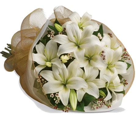 White Delight in blaxland east , red lily floral design