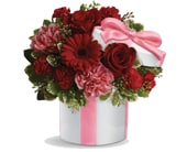Hats Off to Red in canberra , janines florist