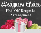 Designer's Choice Hats Off Keepsake Arrangement in willoughby , willoughby florist