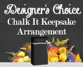 Designer's Choice Chalk It Keepsake Arrangement in willoughby , willoughby florist