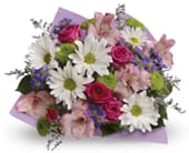Make Mum Smile in corrimal , pink domino florist