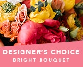 Designer�s Choice Bright Bouquet in grange , the blu tulip