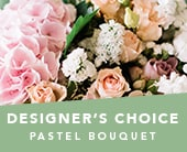 Designer�s Choice Pastel Bouquet in grange , the blu tulip